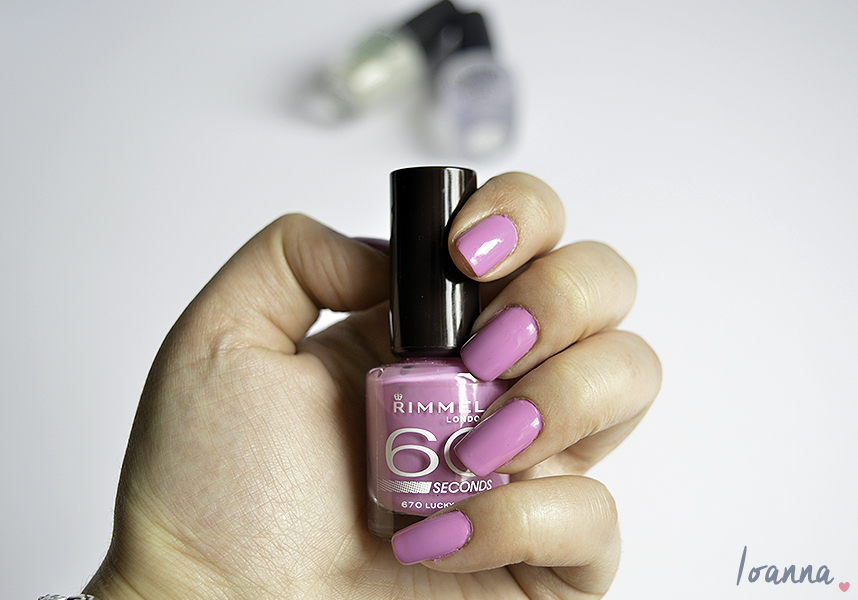Nails #40 featuring Rimmel Lucky Lilac