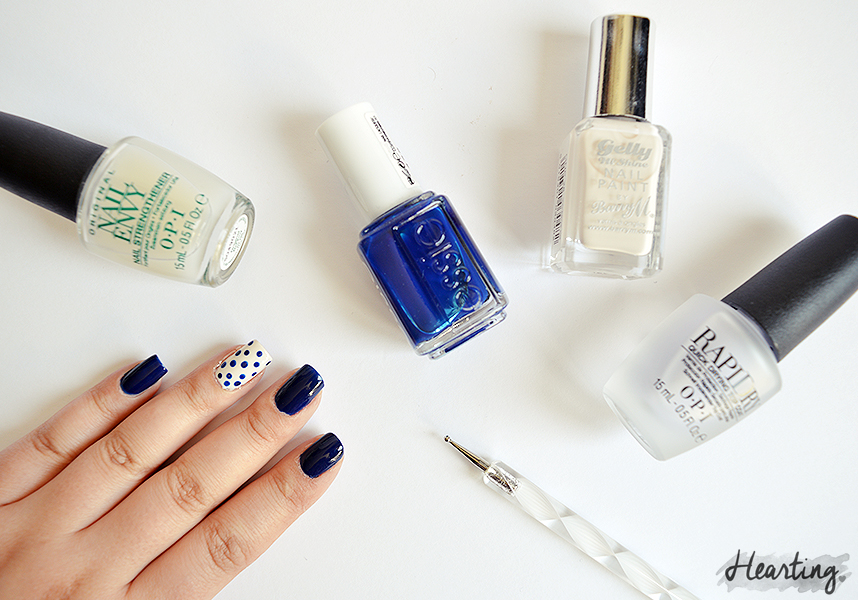 Nails #41 featuring Essie Style Cartel and Barry M Coconut