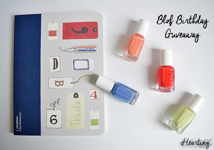 First Blog Birthday Mini Giveaway