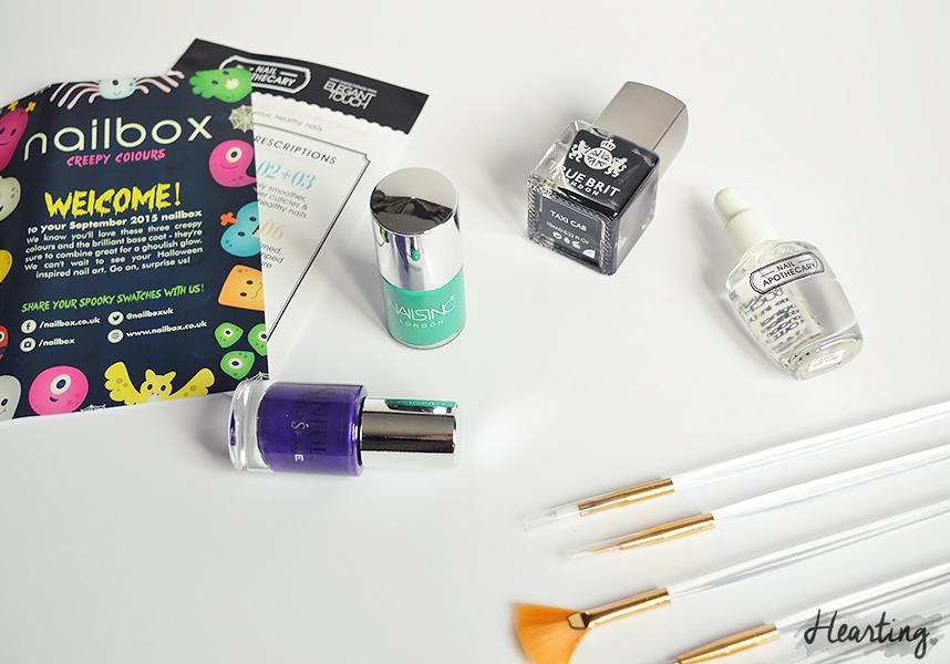 Nailbox #6   September Creepy Colours Nailbox