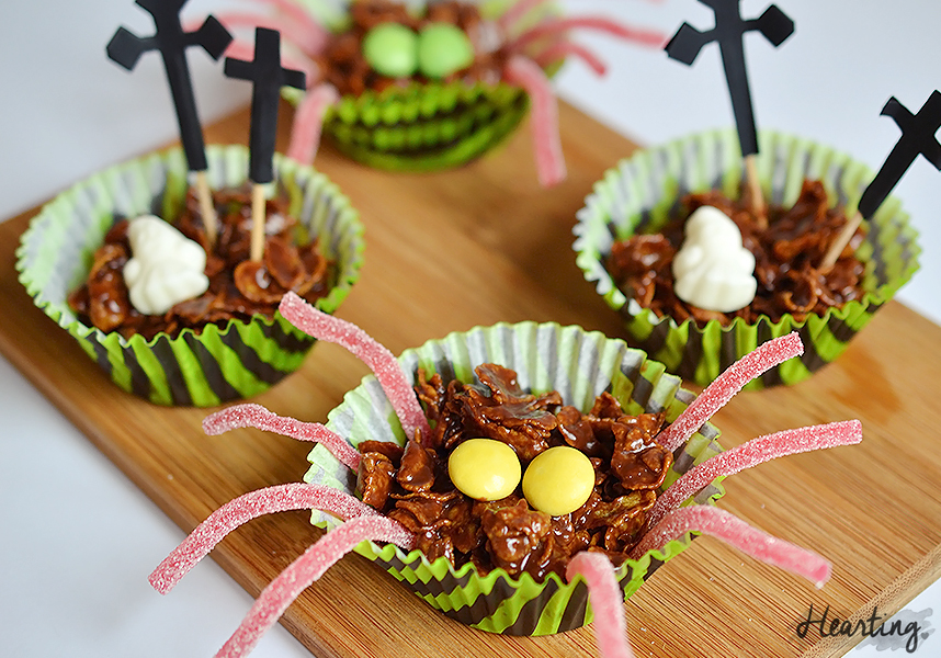 Happy Halloween and Creepy Cornflake Cakes
