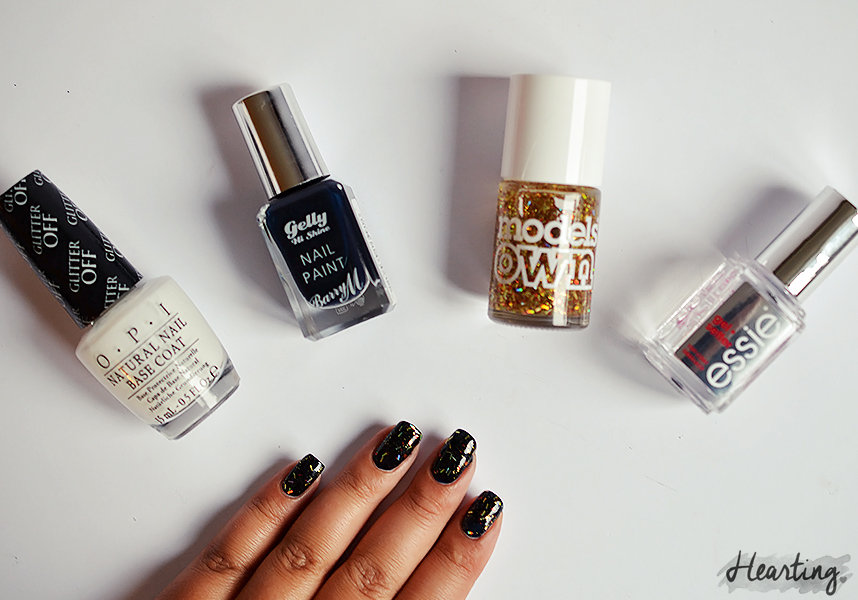 Nails #55 | Barry M Gelly Hi Shine Nail Paint Black Grape and Models Own Catherine Wheel