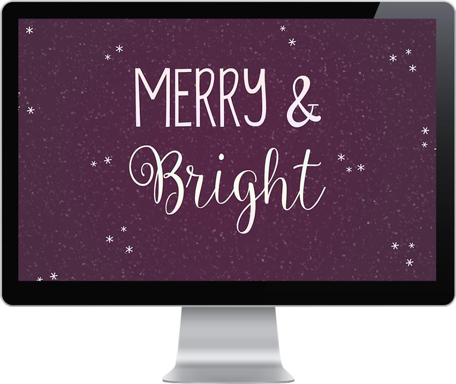 Freebie #4: Merry & Bright Desktop Wallpaper