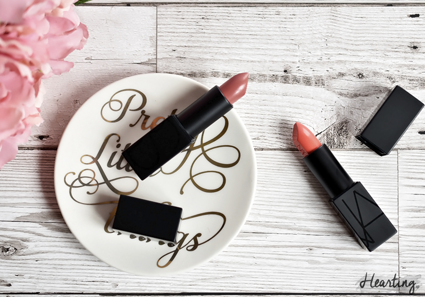 Two Nars Audacious Lipsticks in shades Anita and Juliette