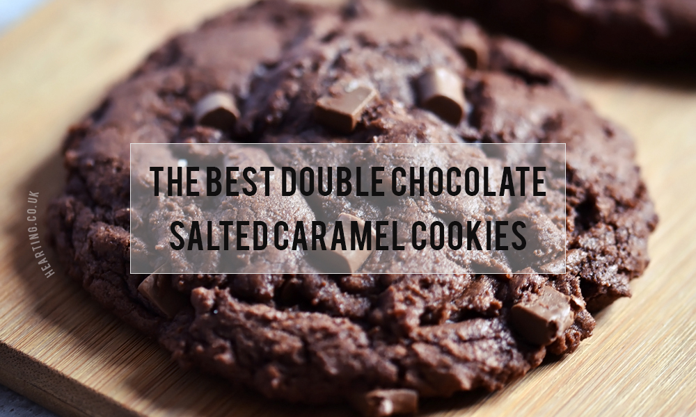 The Best Double Chocolate Salted Caramel Cookies