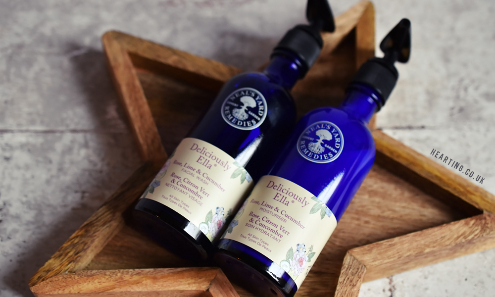 Neal's Yard Rose, Lime and Cucumber Facial Wash and Moisturiser