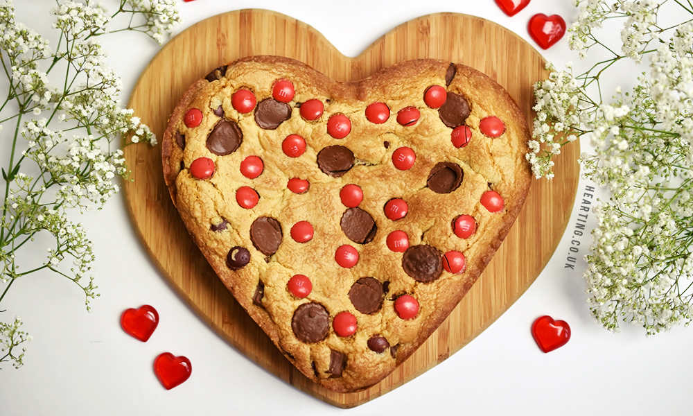 Giant Peanut Butter Valentine's Cookie