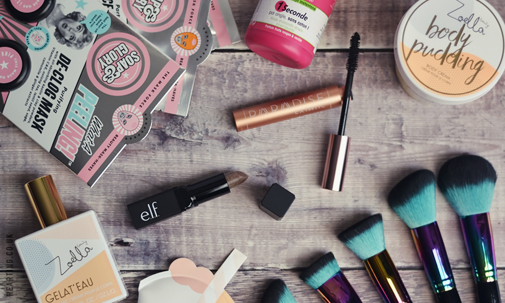 Little Treats #7 including L'Oreal, Elf, Soap & Glory, Spectrum Brushes and Zoella Jelly and Gelato