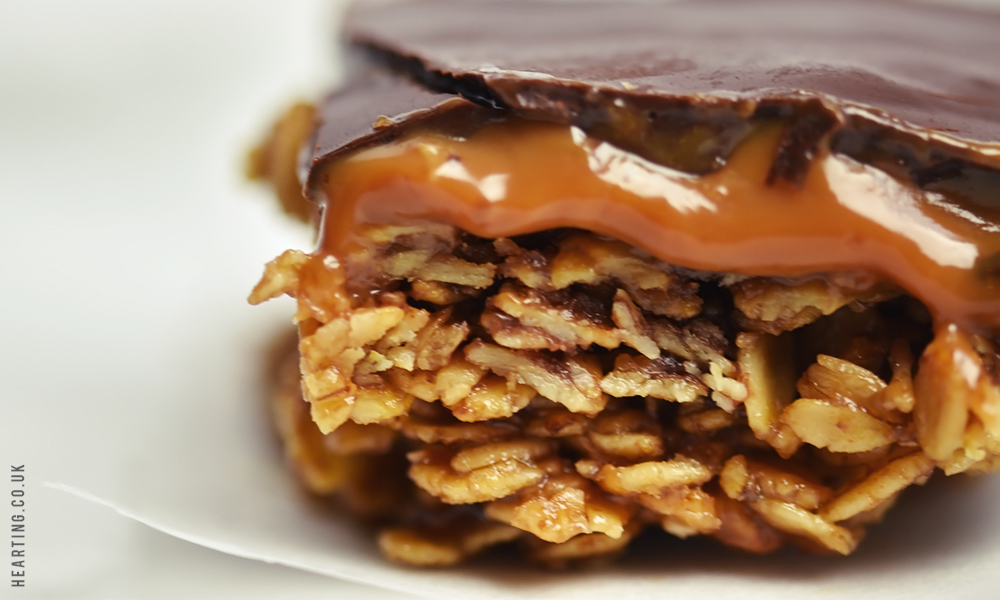 Chocolate and Caramel Flapjack
