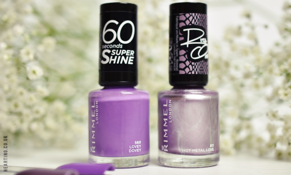 Nails #88 featuring Rimmel Lovey Dovey and Rimmel Hot Metal Love