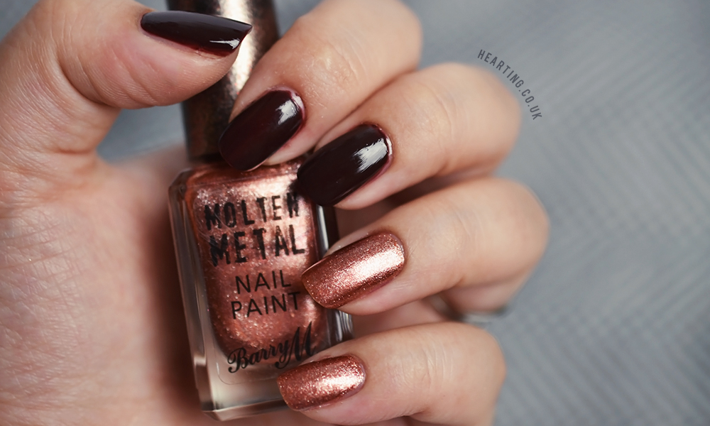 Nails #92 | Essie Chocolate Cakes and Barry M Copper Mine