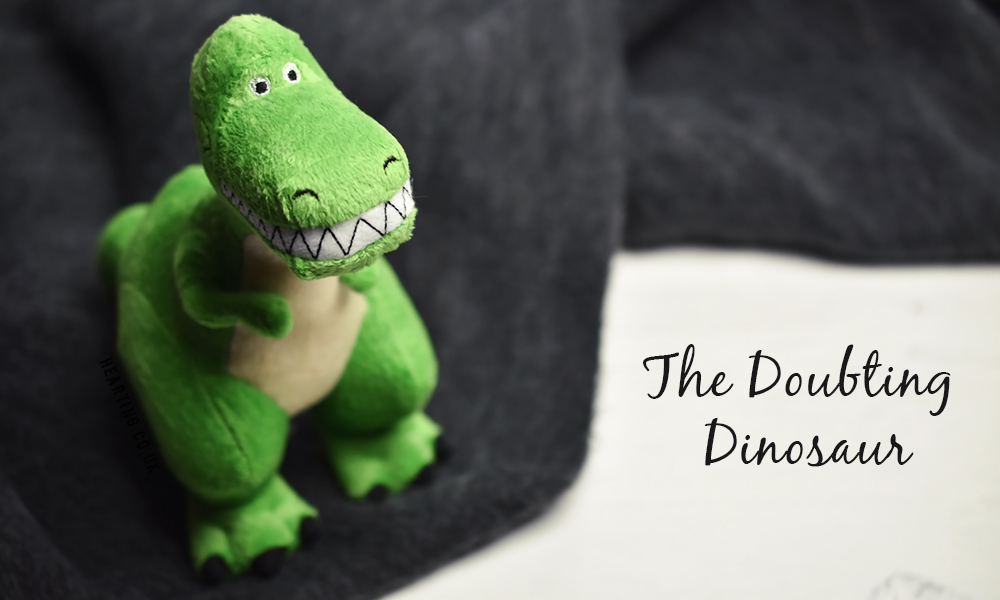 The Doubting Dinosaur | My thoughts on the Doubting Dinosaur, experiencing feelings of uncertainty and doubt and how this can cause a spiral of negative thinking.