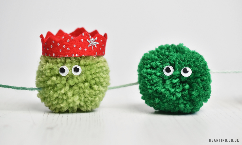 3 Christmas Pom Pom Creations | Festive Brussel Sprout Garland