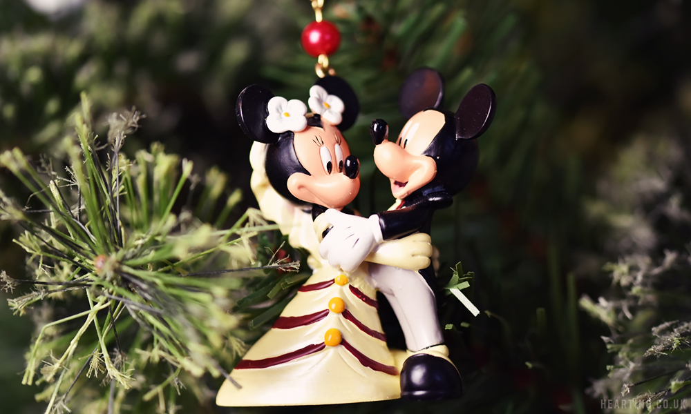 Photo Diary: Our Disney Christmas Tree | Mickey and Minnie Bride and Goom Hanging Ornament