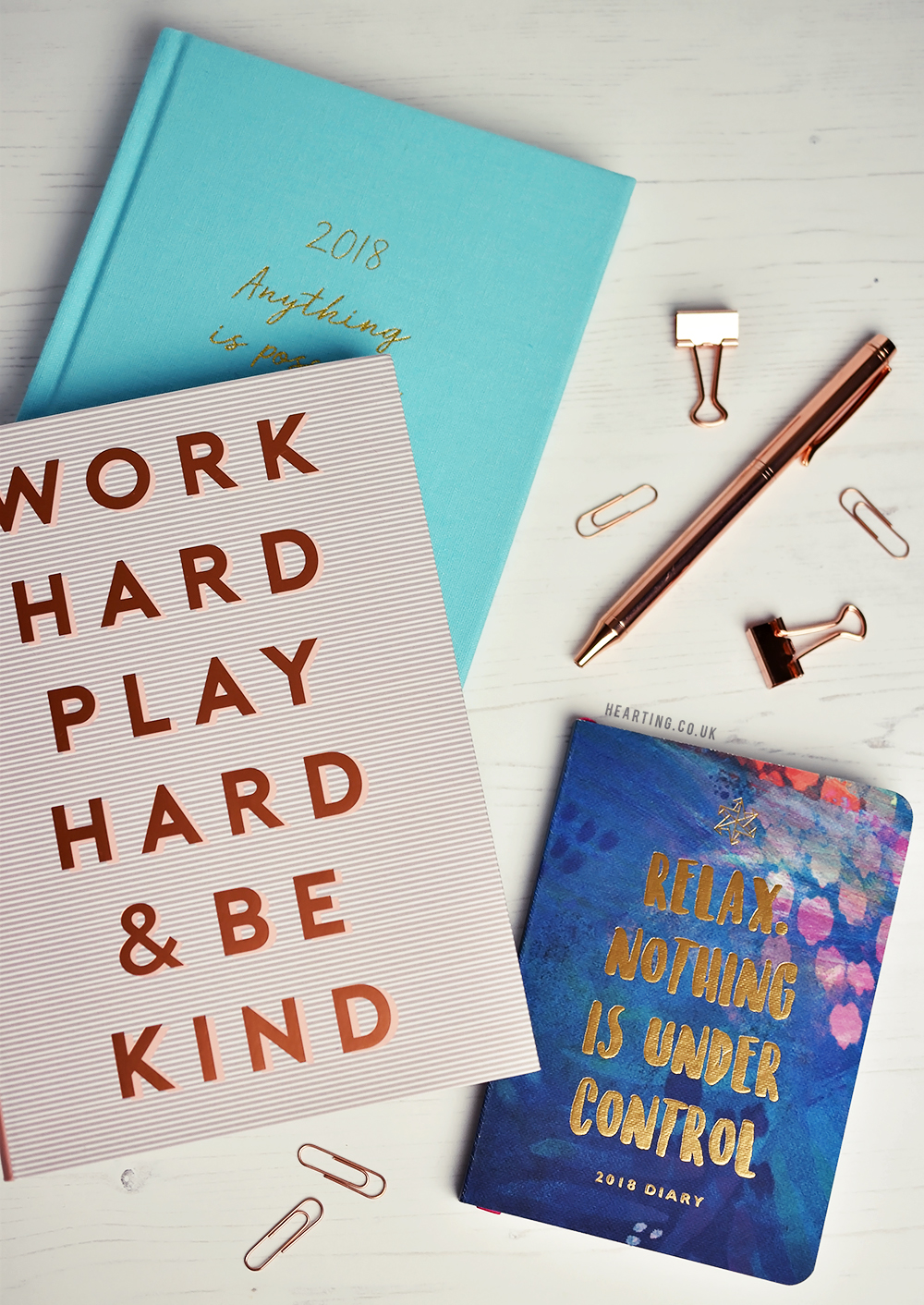 Three Diaries for 2018
