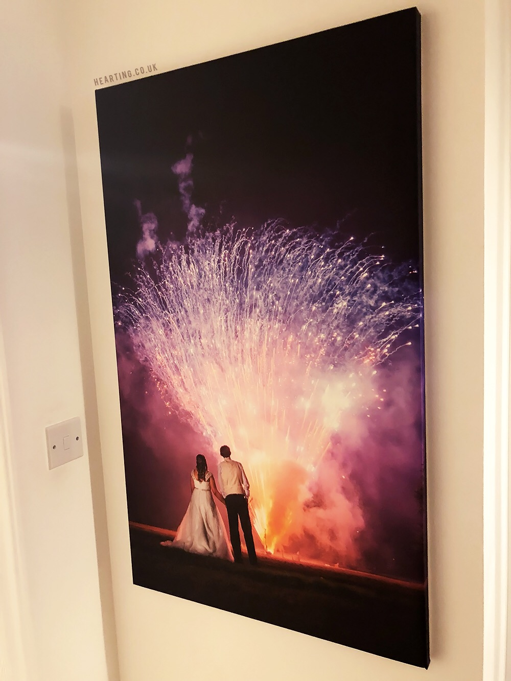 Our Wedding Canvas with Photowall