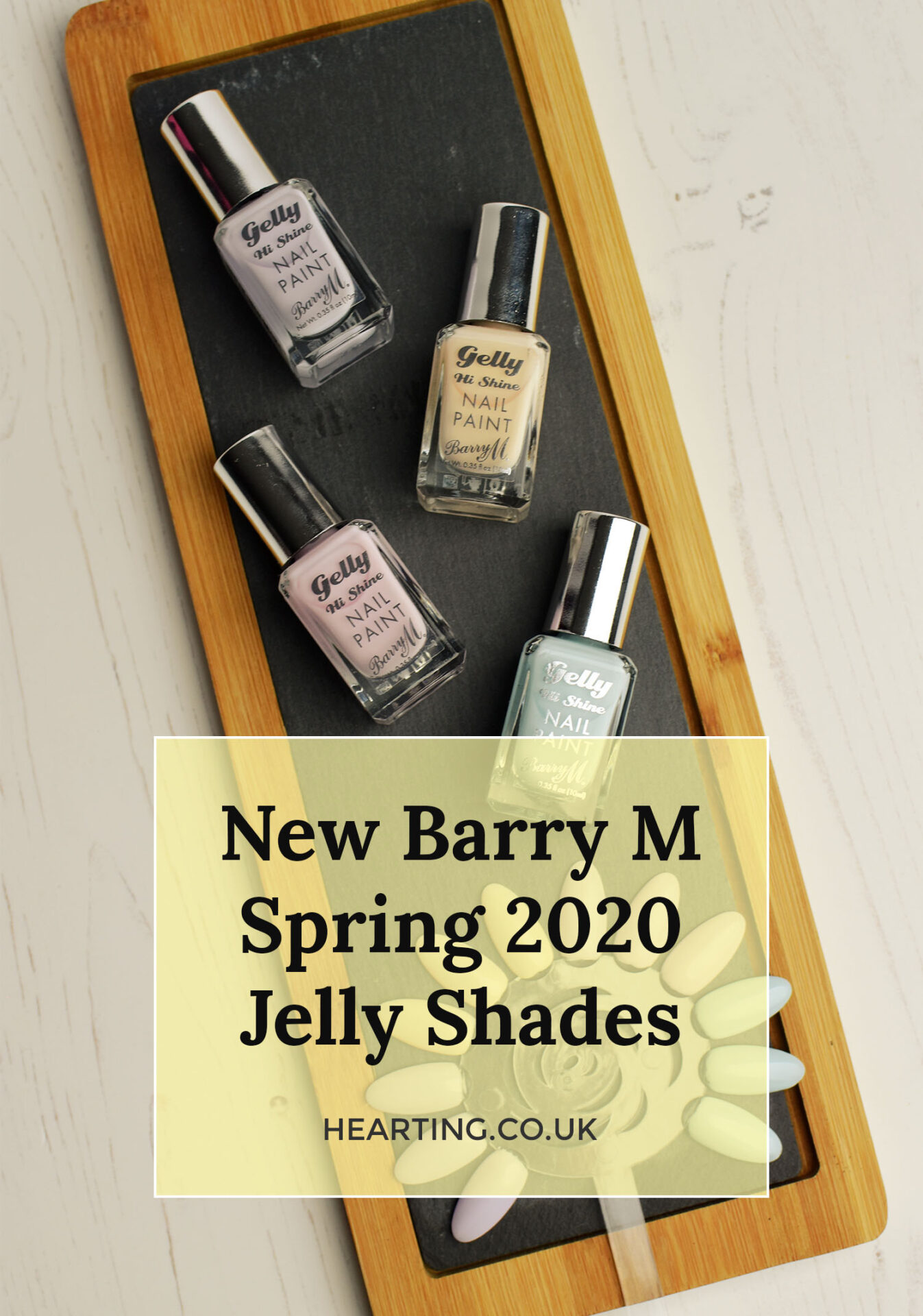 Barry M Gelly Spring Shades 2020 | Swatches of Lavender, Iced Latte, Candy Floss and Berry Sorbet