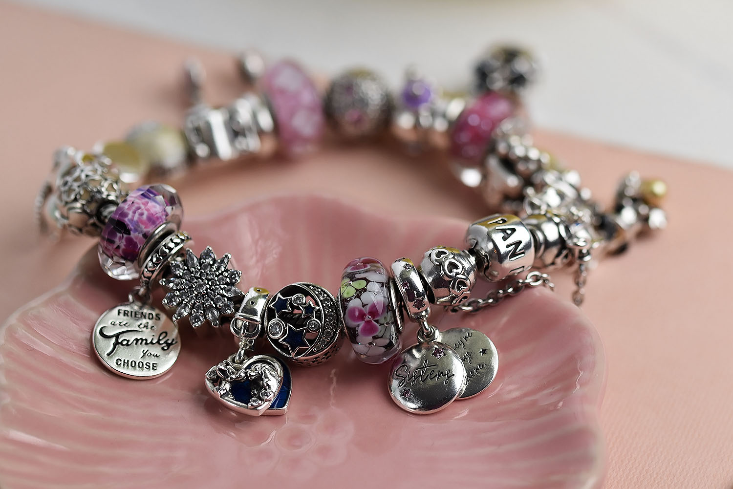 My current silver jewellery favourites | Pandora Bracelet and Charms