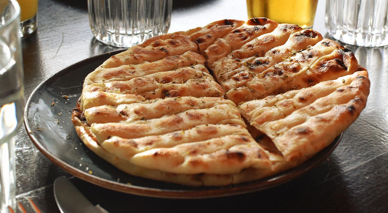 Gyros at Souvlaki City, St Albans | Photograph of pita bread