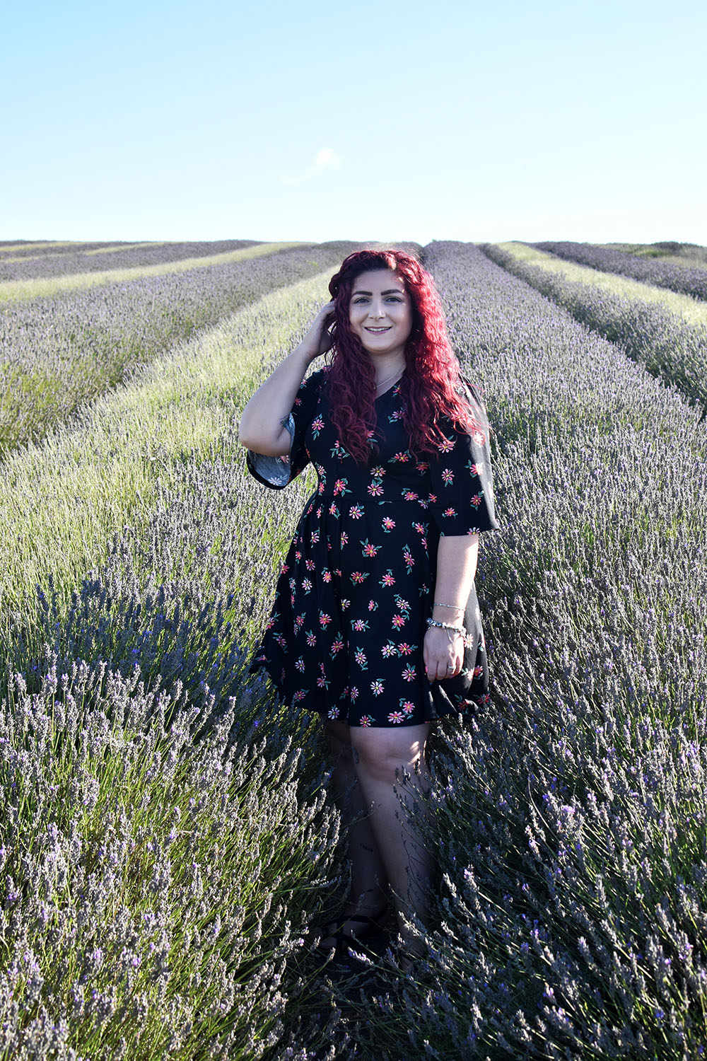 Adjusting to the 'new normal' | Living during the COVID-19 pandemic | Ioanna standing face on in a lavender field